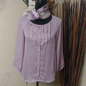 The Limited Lavender Top Sz XS